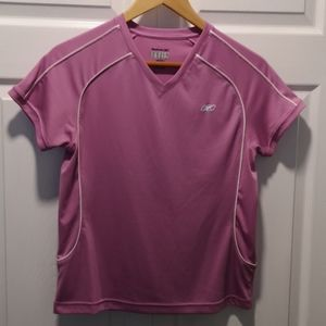 Reebok V-Neck Athletic Tee Size Medium